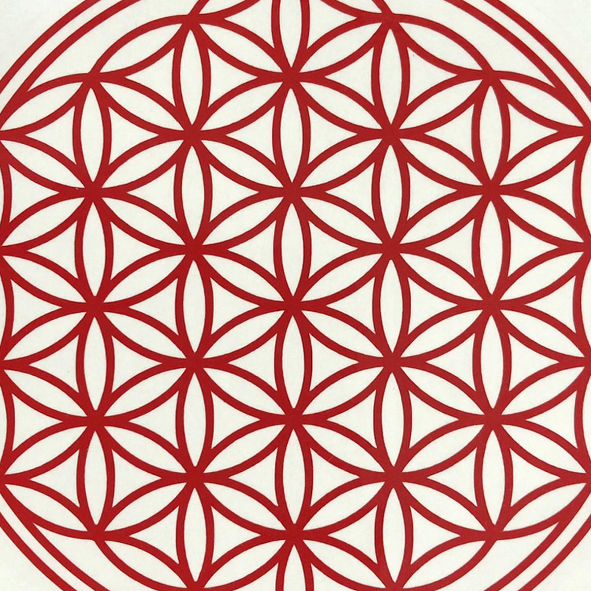 ●フラワーオブライフ 幾何学模様 「生命の花」運気向上 開運ステッカー 10色から選べる 701_画像4