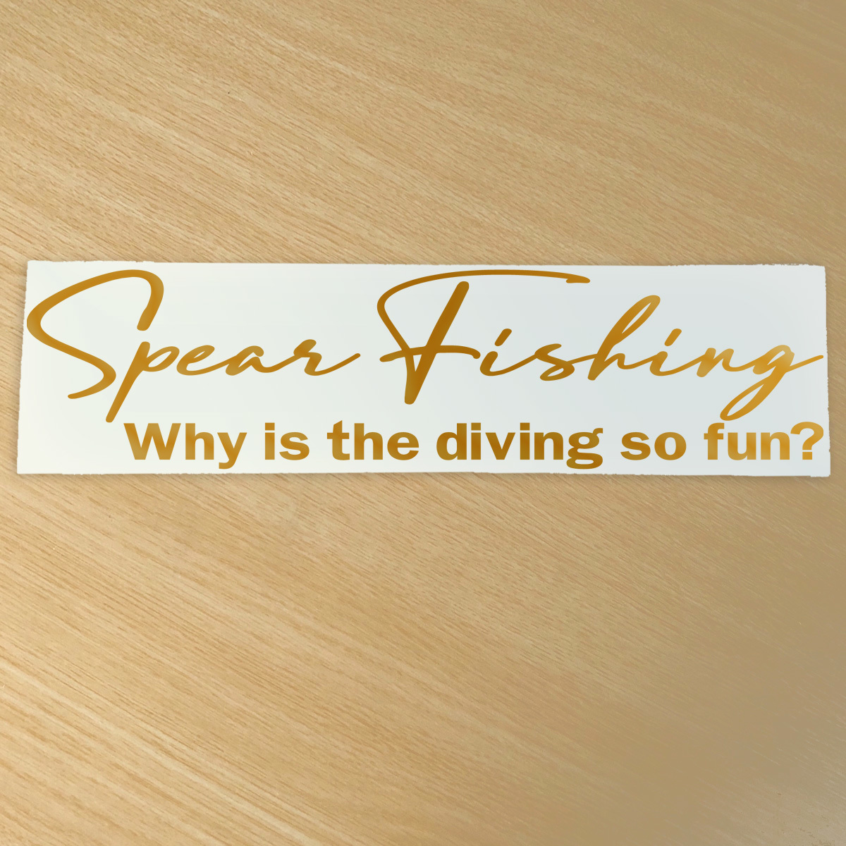 ●Sportsmind風 Spear Fishing カッティングステッカー Why is the diving so fun ?どうしてダイビングはそんなに楽しいの? NO631_画像2