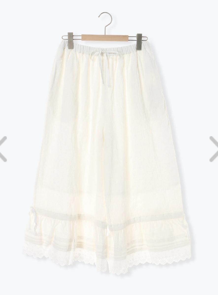 送料無料 今期新品タグつき サマンサモスモス SM2 裾レースペチパンツ オフホワイト ゆったりサイズ ドロワーズ ズロース