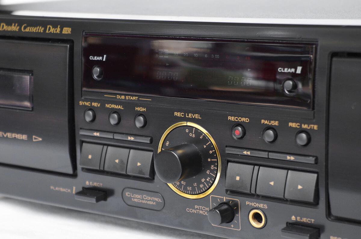 ▼ TEAC ティアック ダブル オート リバース カセットデッキ W-790R リモコン 付属 ~ オーディオ 音響 録音 レトロ オープン リール_画像3