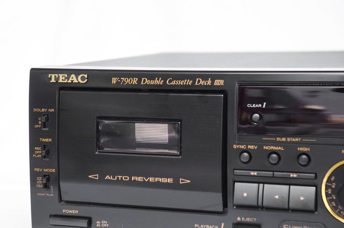 ▼ TEAC ティアック ダブル オート リバース カセットデッキ W-790R リモコン 付属 ~ オーディオ 音響 録音 レトロ オープン リール_画像2