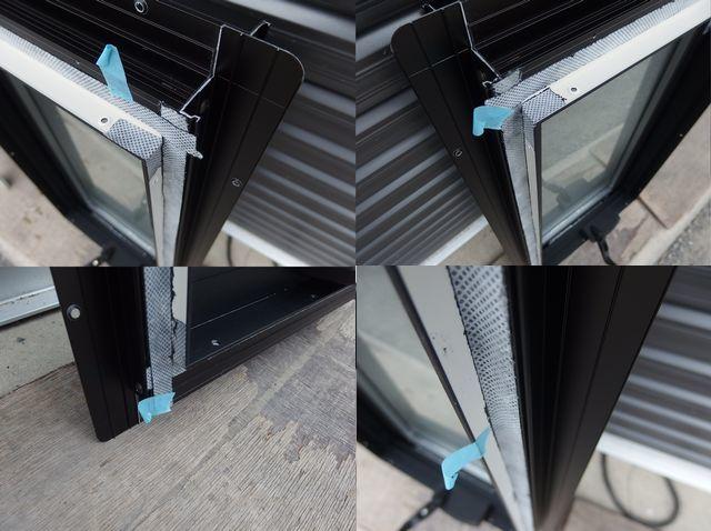 在庫品 アルミサッシ LowE 型 ペアガラス 横すべり出し窓 オペレーター 03607 網戸 ブラック_画像9