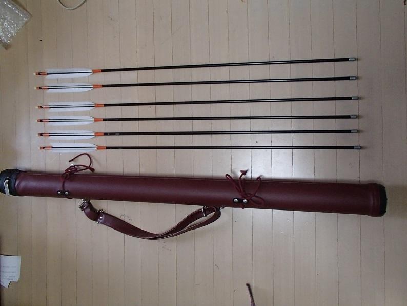 弓道【新品】 矢1913 6本 矢筒つき セット_画像1