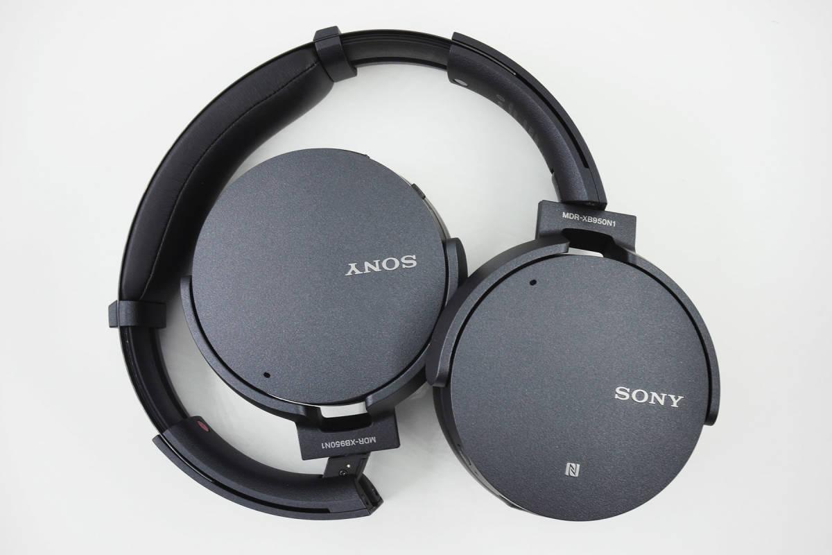 【極美品】SONY MDR-XB950N1 ブラック Bluetooth ワイヤレス ノイズキャンセル _画像3