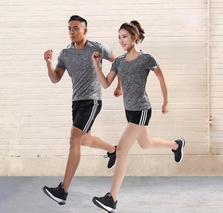 コンプレッションウェア メンズ 半袖 シャツ ハーフパンツ 上下 2点セット 軽量 通気 スポーツウェア ダークグレー L_画像2