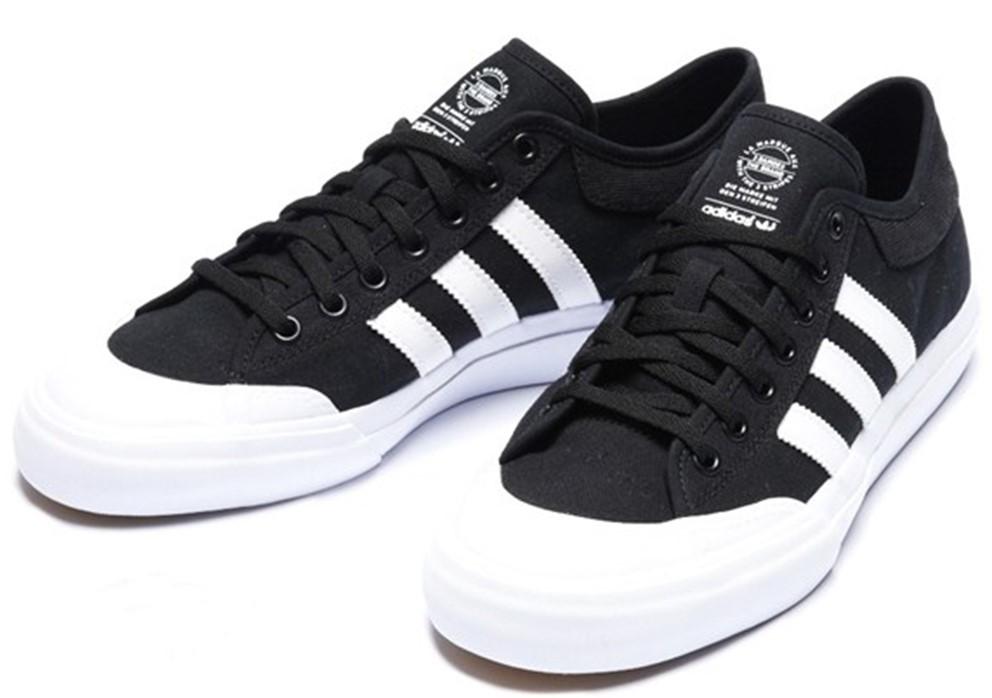 27.5cm●アディダス オリジナルス マッチコート adidas skateboarding MATCHCOURT スケートシューズ 黒 白 F37383 コートシューズ デッキ_画像1