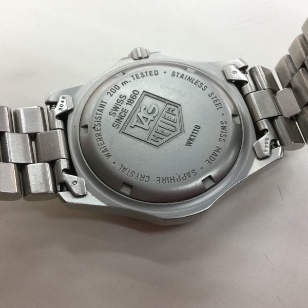 33a109☆タグホイヤー WK1110 2000シリーズ プロフェッショナル 中古_画像5