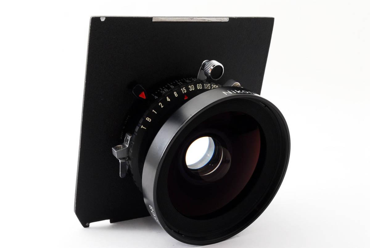 【極上美品】ニコン Nikkor SW 65mm f4 S 7枚絞り 大判レンズ 4x5 ボード付!動作確認済み_画像4