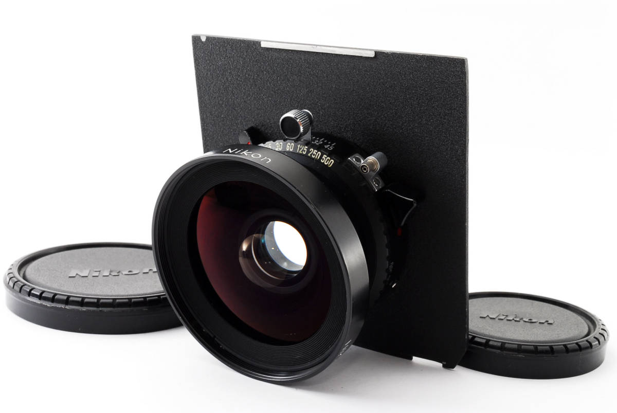 【極上美品】ニコン Nikkor SW 65mm f4 S 7枚絞り 大判レンズ 4x5 ボード付!動作確認済み_画像1