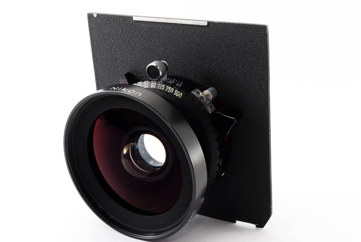 【極上美品】ニコン Nikkor SW 65mm f4 S 7枚絞り 大判レンズ 4x5 ボード付!動作確認済み_画像2