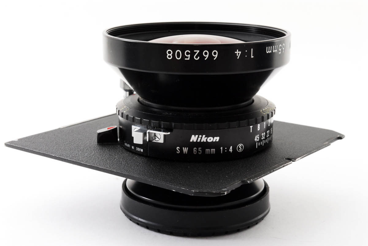 【極上美品】ニコン Nikkor SW 65mm f4 S 7枚絞り 大判レンズ 4x5 ボード付!動作確認済み_画像10