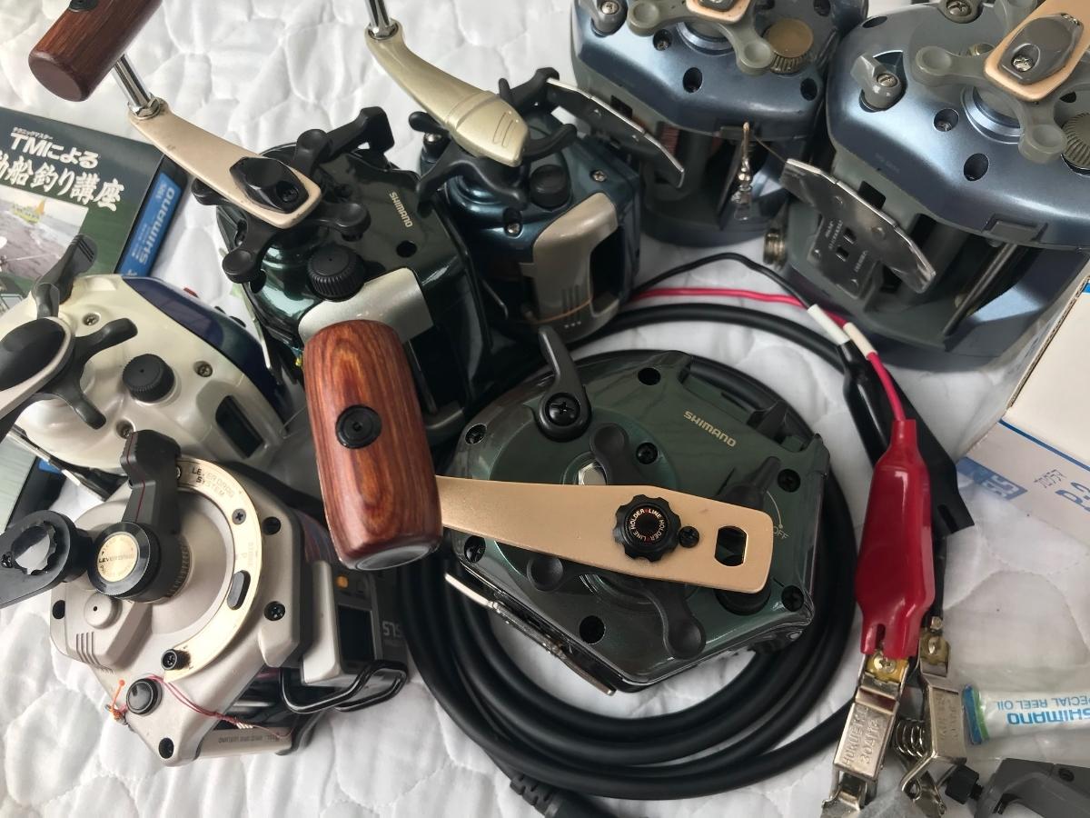 ⑨シマノ レトロ電動リール カウンターリール 色々 計7台電動は特に不具合は有りません。TM4000Hは未使用と思われます_画像6