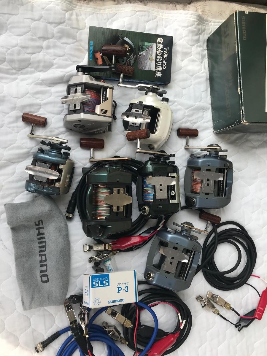 ⑨シマノ レトロ電動リール カウンターリール 色々 計7台電動は特に不具合は有りません。TM4000Hは未使用と思われます_画像2