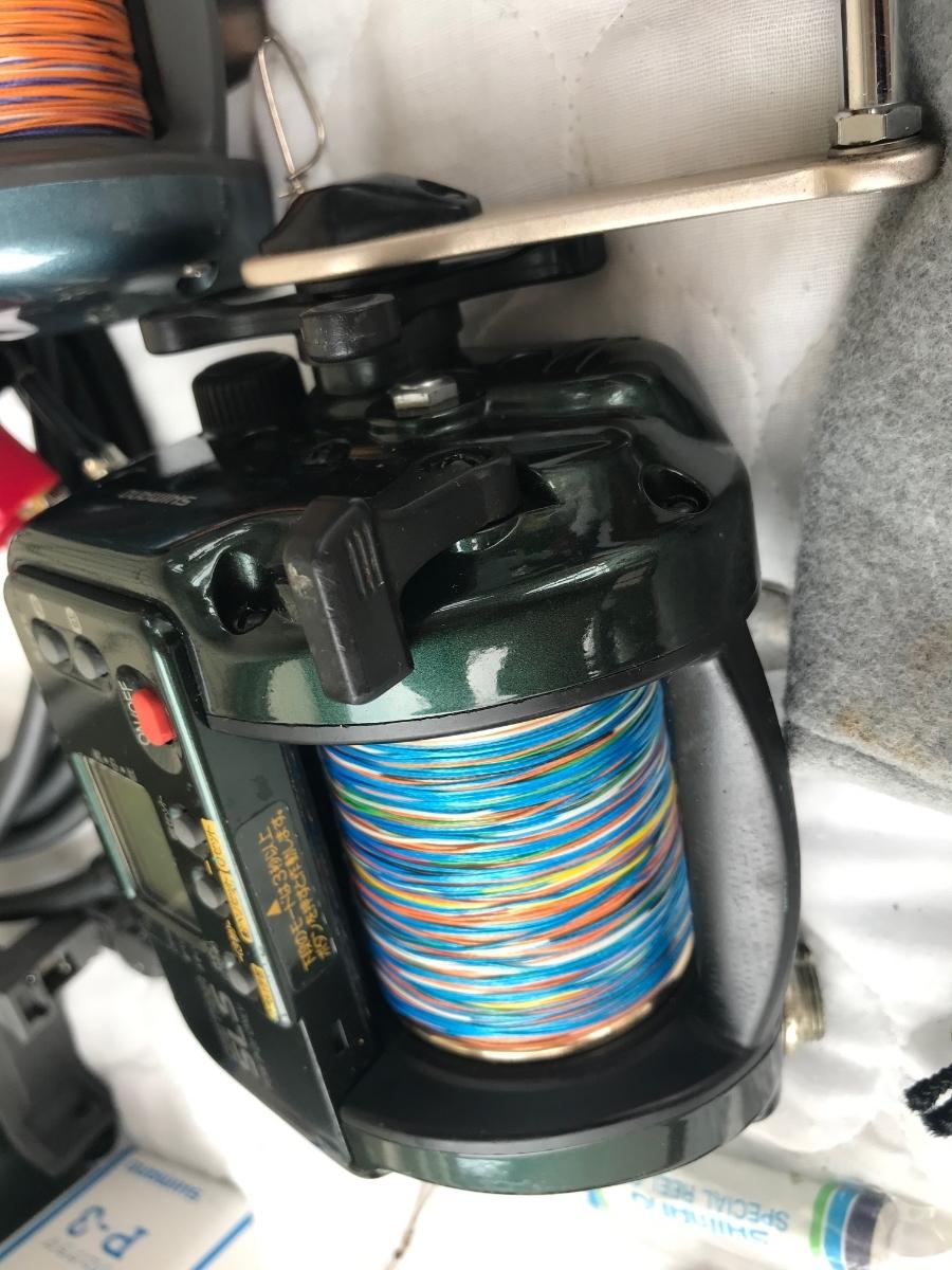 ⑨シマノ レトロ電動リール カウンターリール 色々 計7台電動は特に不具合は有りません。TM4000Hは未使用と思われます_画像5