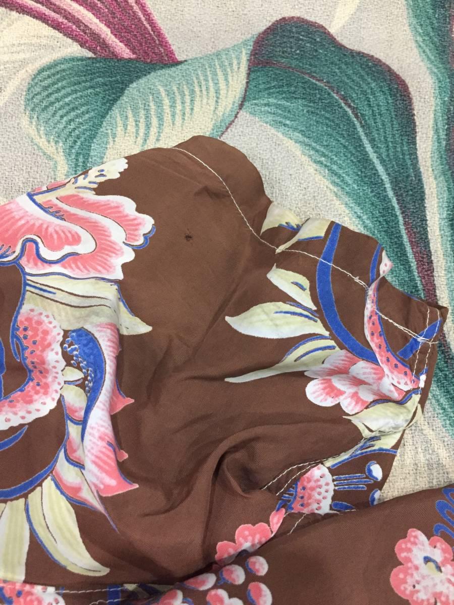 激レア★50's★ハワイ産★ヴィンテージ★メニュー柄★ウクレレ★フランク マッキントッシュ★pohaku★ハワイアンシャツ★茶_画像9