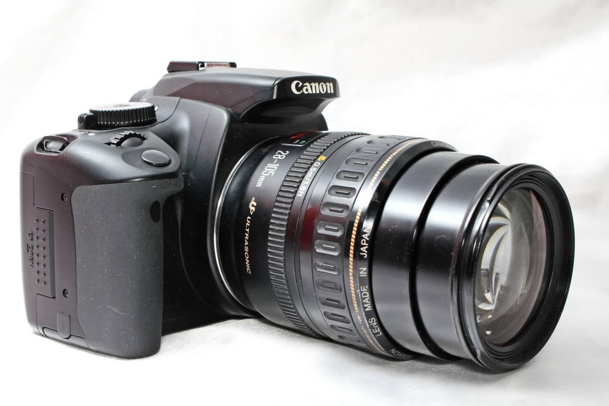 ★【レンズカメラ大放出! トリプルレンズセット】Canon EOS Kiss Digital X EOS 1000QD ★EF28-105mm USM EF35-80mm EF35-70mm ★まとめ_画像2