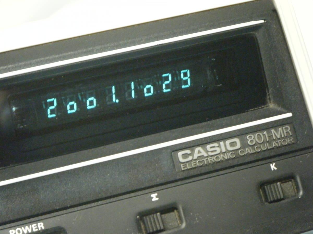 カシオ 電卓 「801MR」 CASIO 昭和レトロ 計算機 蛍光管表示 アンティーク VFD表示 古い 1974_画像3