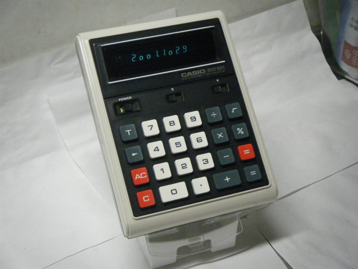 カシオ 電卓 「801MR」 CASIO 昭和レトロ 計算機 蛍光管表示 アンティーク VFD表示 古い 1974_画像1