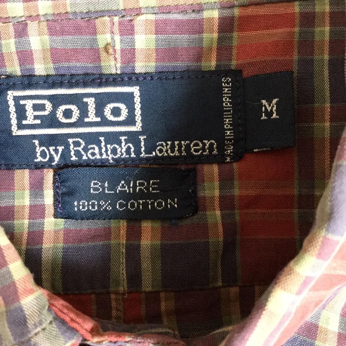 Polo Ralph Lauren ポロ ラルフローレン 半袖シャツ ボタンダウン チェック BLAIRE ビックシルエット
