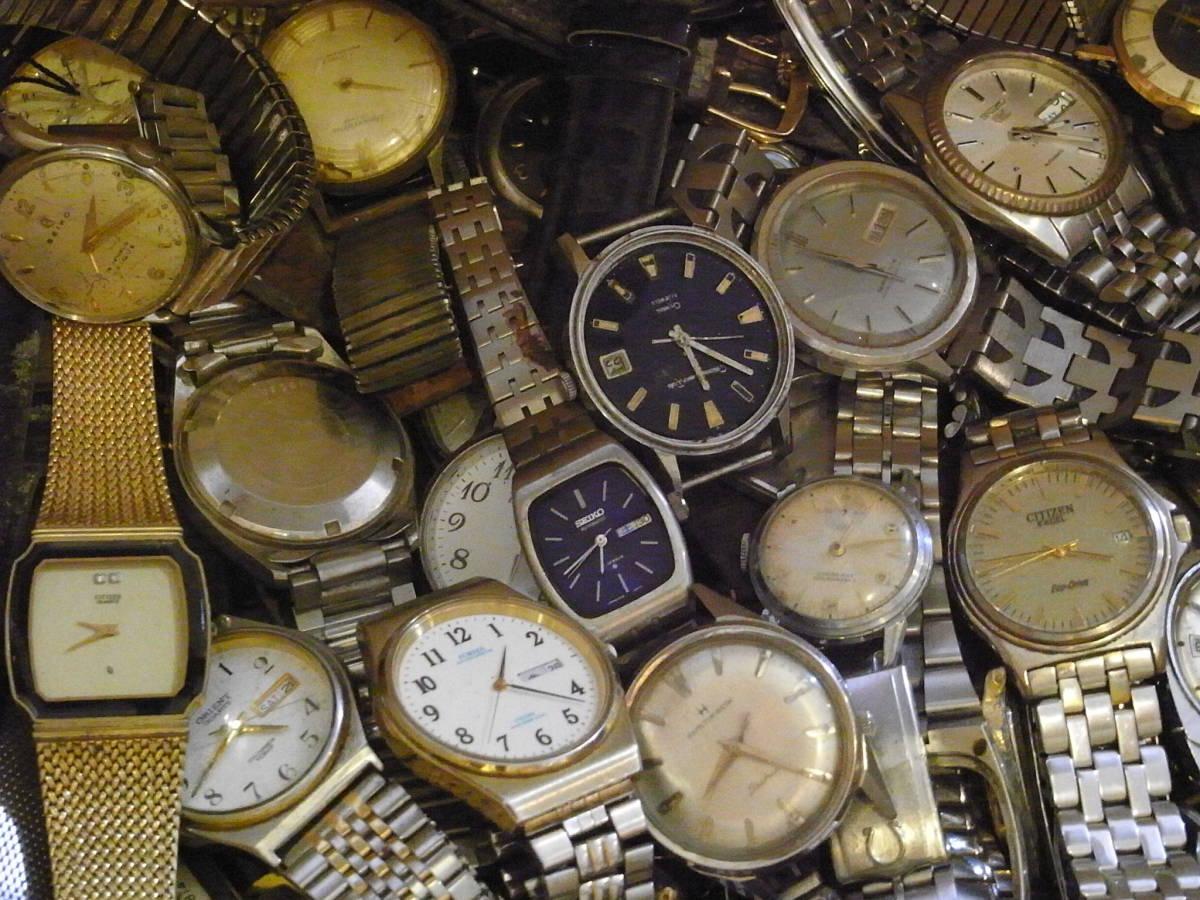■腕時計おまとめセット■300個以上/SEIKO CITIZEN HAMILTON 等/機械式・QUARTZ/大量/個/kg/ジャンク/ブランド_画像2