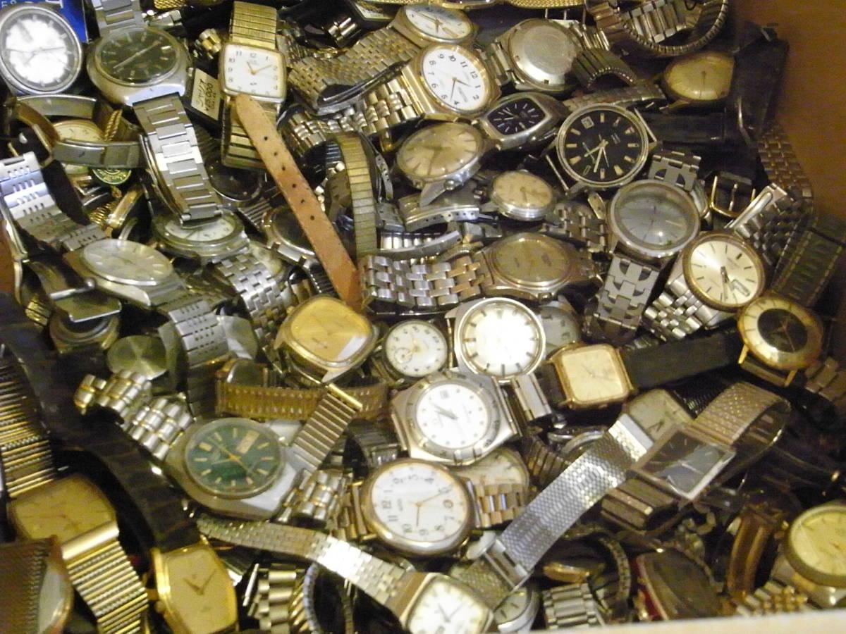 ■腕時計おまとめセット■300個以上/SEIKO CITIZEN HAMILTON 等/機械式・QUARTZ/大量/個/kg/ジャンク/ブランド_画像7