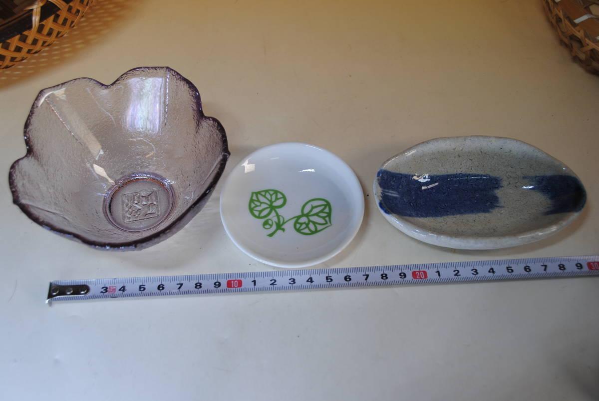 M39 小鉢セット ザル付 11点セット ガラス鉢 美濃焼 作山窯 薬味 ざるそば おばんざい 涼しげ 食器 小皿 送料無料 詳細写真複数あり_画像8