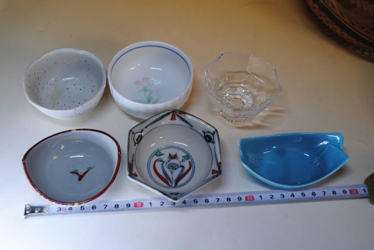 M39 小鉢セット ザル付 11点セット ガラス鉢 美濃焼 作山窯 薬味 ざるそば おばんざい 涼しげ 食器 小皿 送料無料 詳細写真複数あり_画像3