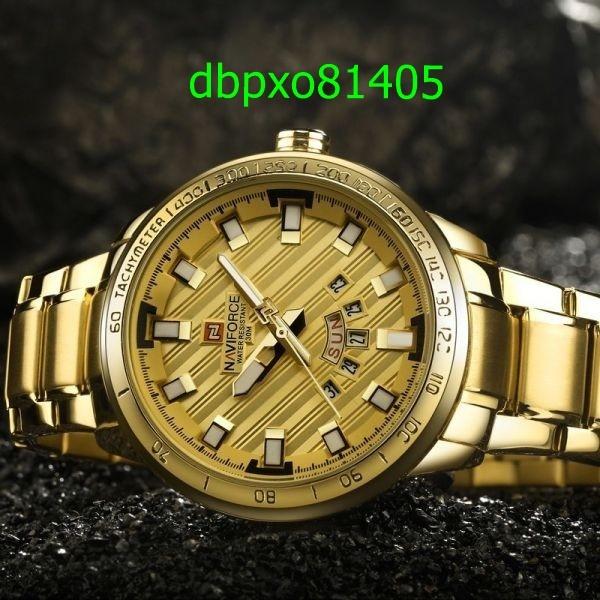 【破格の1円スタート】高級ブランド腕時計 男性用 スポーツフルスチールクォーツ時計 防水時計 メンズミリタリー腕時計 1701_画像3