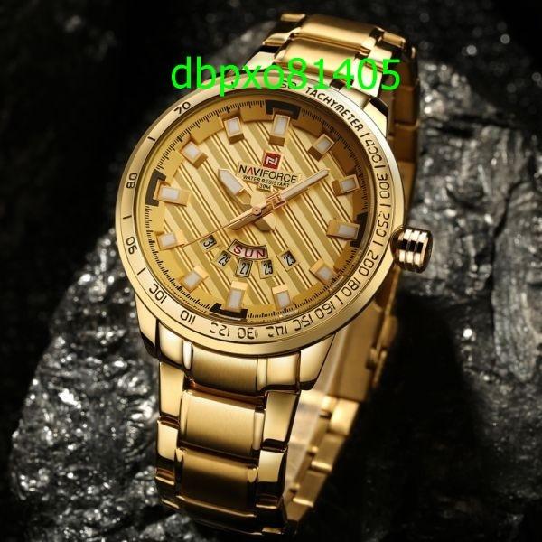 【破格の1円スタート】高級ブランド腕時計 男性用 スポーツフルスチールクォーツ時計 防水時計 メンズミリタリー腕時計 1701_画像1