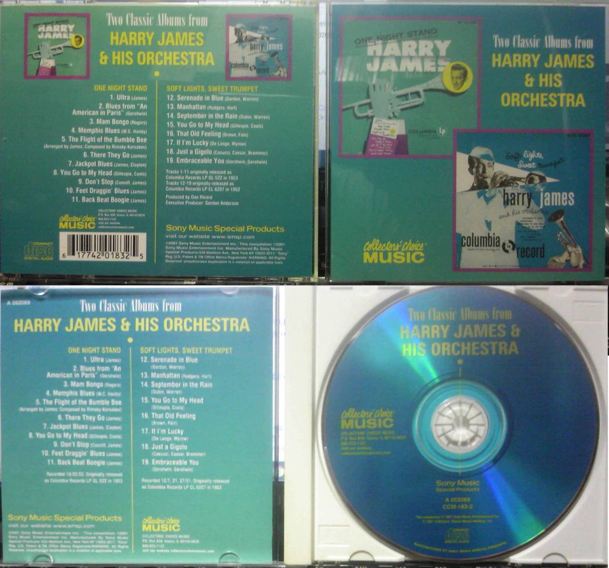 Two Classic Albums From Harry James & His Orchestra Soft Lights Sweet Trumpet / One Night Stand_画像1