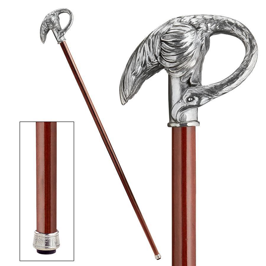 白鳥のハンドル ステッキ 杖 西洋風装飾洋風ファッション個性的杖置物彫刻デザインスティックイタリア飾り杖アールヌーボーデザイン_画像1