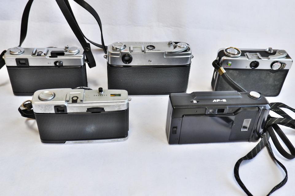 ヤシカ リンクス1000 フジカハーフ OLYMPUS TRIP35 オリンパス35DC ミノルタAF-E フィルムカメラ5台_画像3