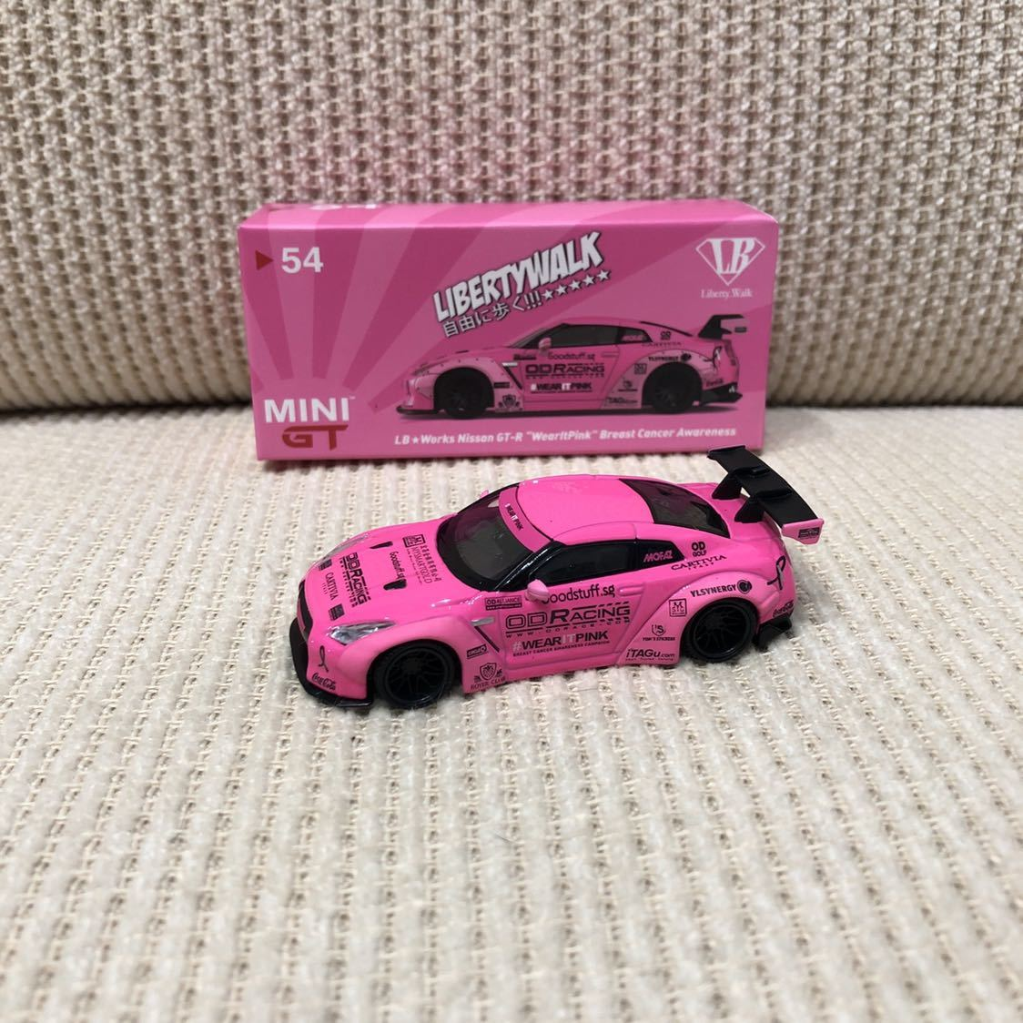 TSM MINI GT 1/64 リバティーウォーク ニッサン GT-R R35 Type1 Rear wing Ver.1 LB WORKS 限定 レア ピンク Pink MGT00054 マレーシア限定_画像2