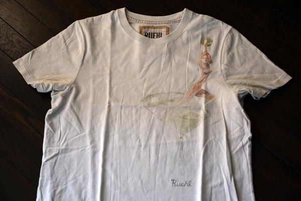 美品 希少 レア物 カクテル LADY Tシャツ RUEHL No.925 本物 ルール ナンバー925 正規品 アバクロの上級ブランド_画像2