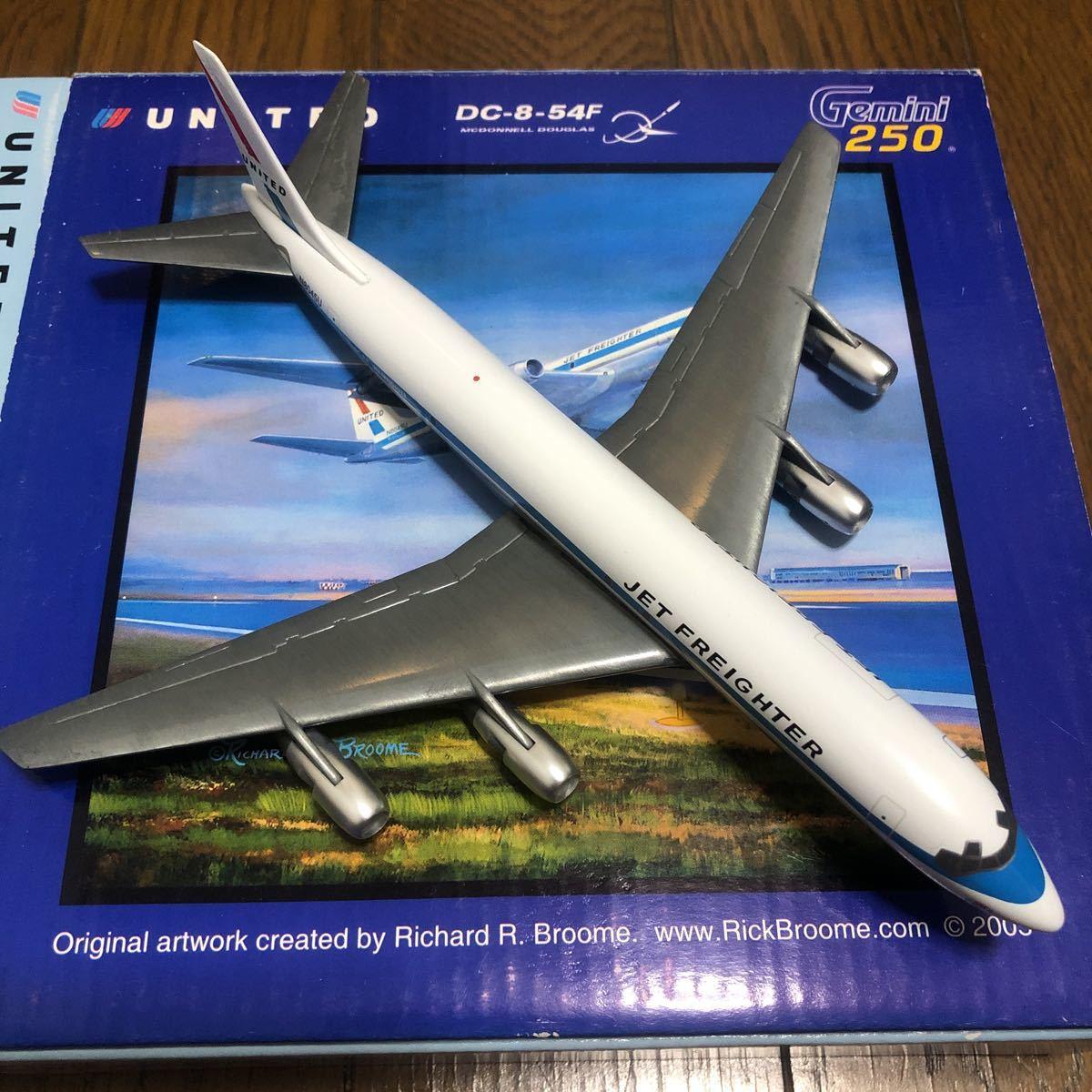 ジェミニ250 1/250 ユナイテッド航空ダグラスDC-8-54F 中古品_画像3