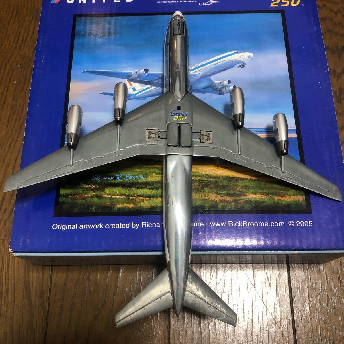 ジェミニ250 1/250 ユナイテッド航空ダグラスDC-8-54F 中古品_画像5