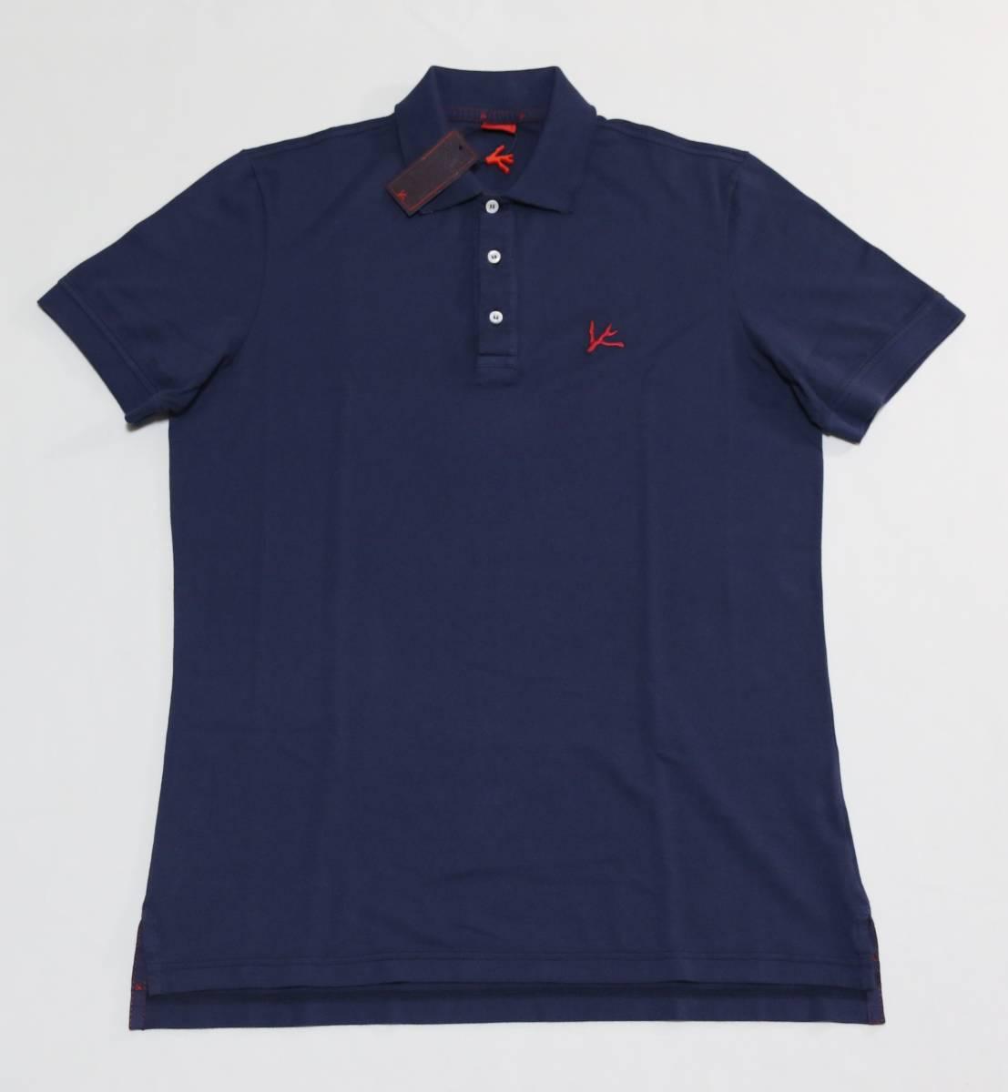 新品 ISAIA イザイア ポロシャツ サイズS ネイビー