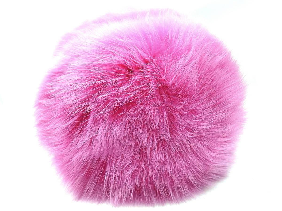 未使用 LUDLOW ラドロー ハンドバッグ ファー バケツバッグ ペールピンク ピンク レザー フォックスファー FOX 箱付き バケット 送料無料_画像9