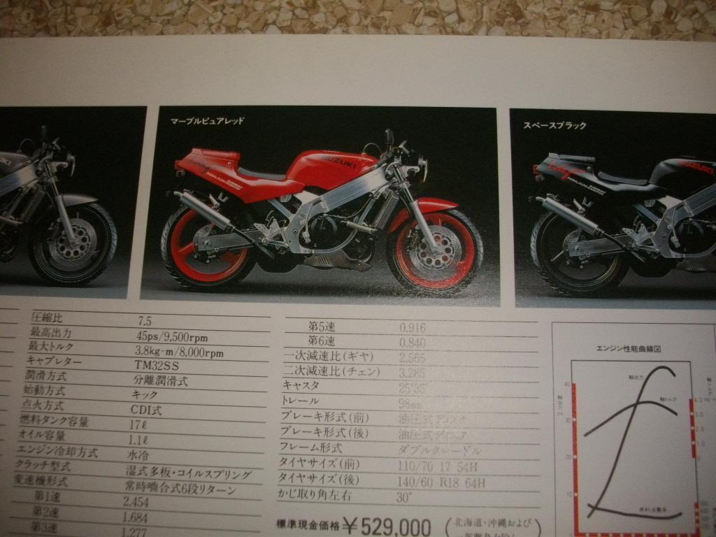 スズキ ウルフ カタログ  VJ21A 見開き4ページ 1988年 25年前 送料185円 _画像4
