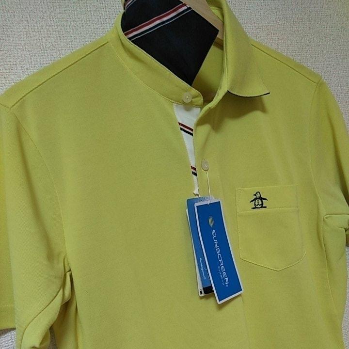新品 定価14040 Munsingwear マンシング 半袖 ポロシャツ 3L イエロー MOTION3D サンスクリーン ファインドライ UVカット 吸汗 速乾 _画像1