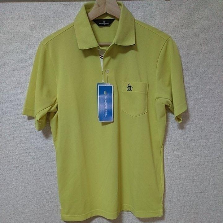 新品 定価14040 Munsingwear マンシング 半袖 ポロシャツ 3L イエロー MOTION3D サンスクリーン ファインドライ UVカット 吸汗 速乾 _画像2