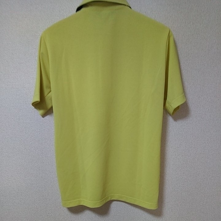 新品 定価14040 Munsingwear マンシング 半袖 ポロシャツ 3L イエロー MOTION3D サンスクリーン ファインドライ UVカット 吸汗 速乾 _画像6
