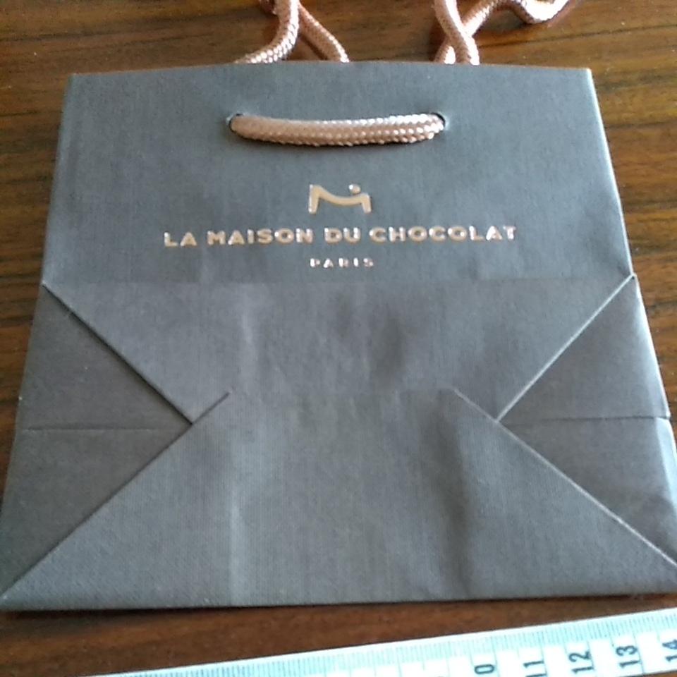 ラ メゾン ド ショコラ 手提げ袋 ミニ ショッパー 茶色 紙袋 ショコラティエ チョコレート_画像3