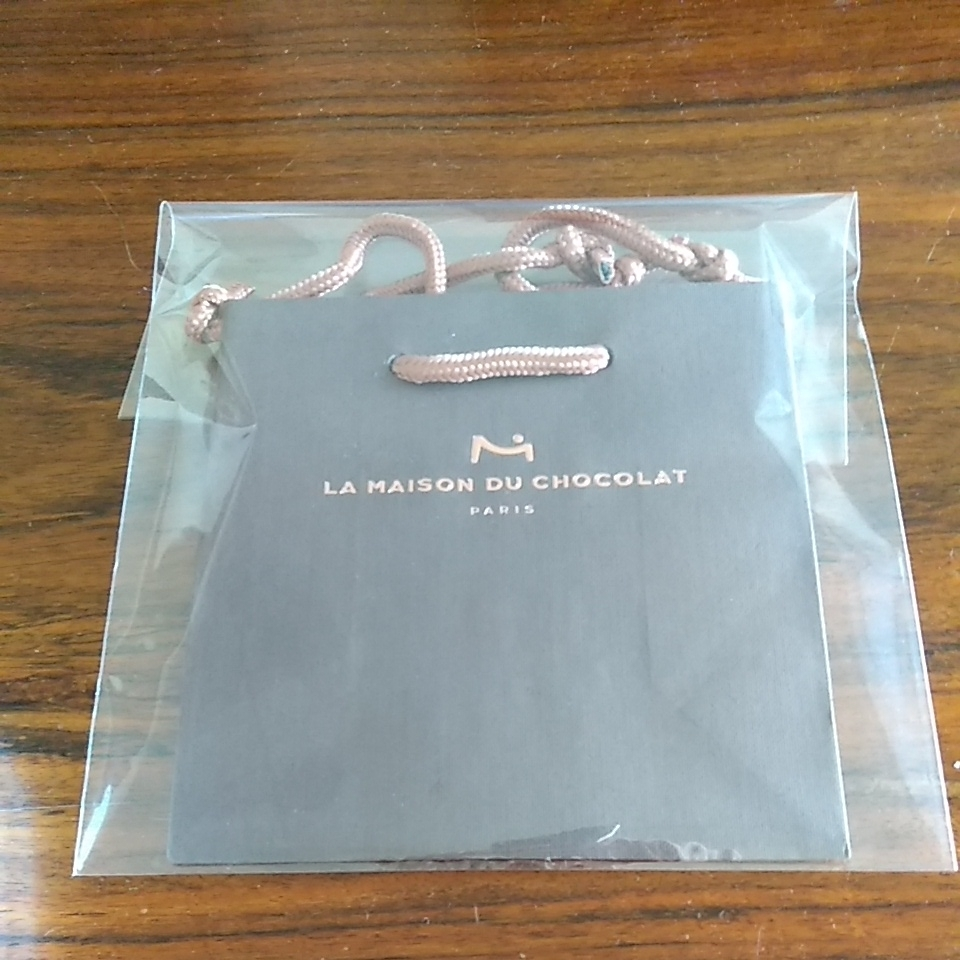 ラ メゾン ド ショコラ 手提げ袋 ミニ ショッパー 茶色 紙袋 ショコラティエ チョコレート_画像1
