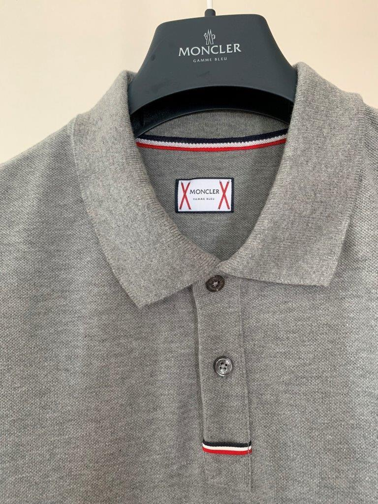 ポロシャツ の頂点 モンクレール ガムブルー by トムブラウン 全開 グレー×トリコロール 100%正規美品 定価8万円 サイズS Tシャツ_画像5