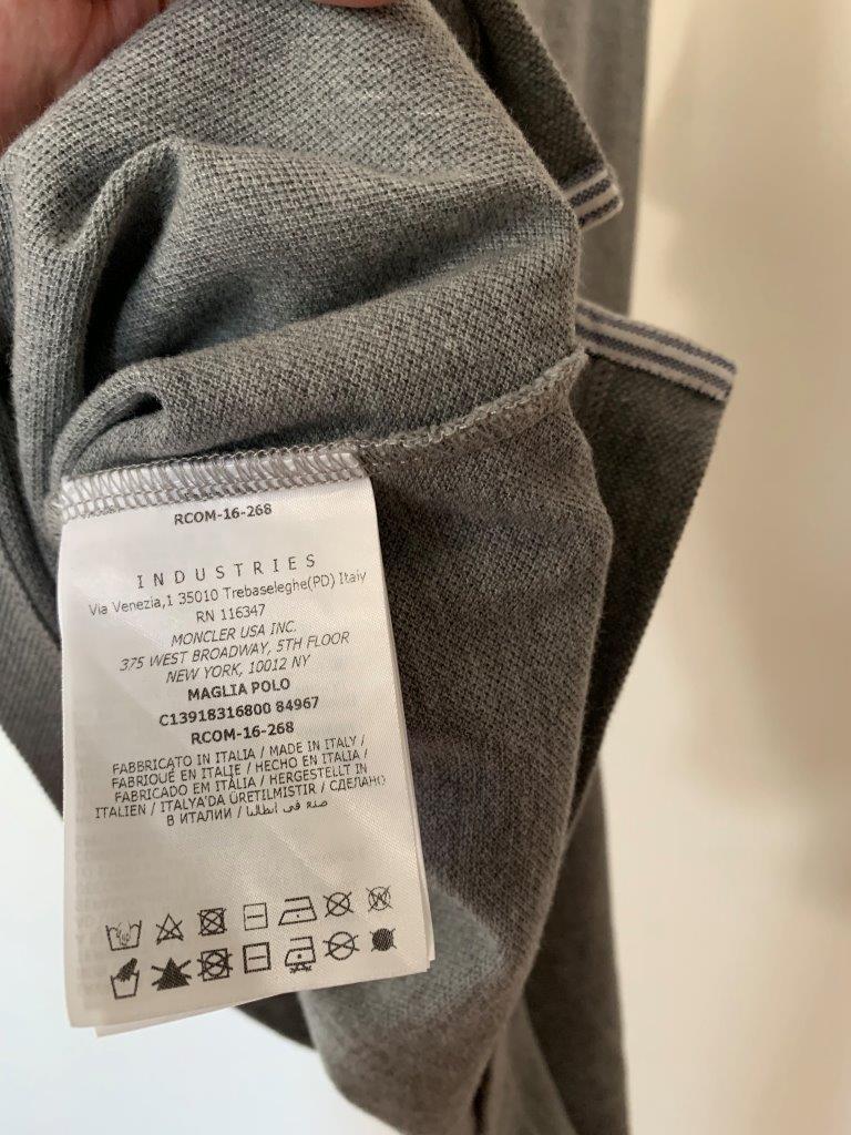 ポロシャツ の頂点 モンクレール ガムブルー by トムブラウン 全開 グレー×トリコロール 100%正規美品 定価8万円 サイズS Tシャツ_画像7