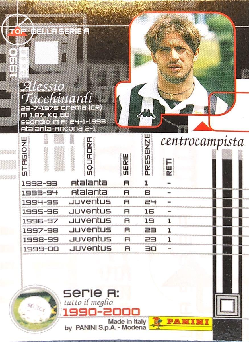 アレッシオ・タッキナルディ!PANINI セリエA 1990-2000☆アタランタ、ユヴェントス!レア!114_画像2