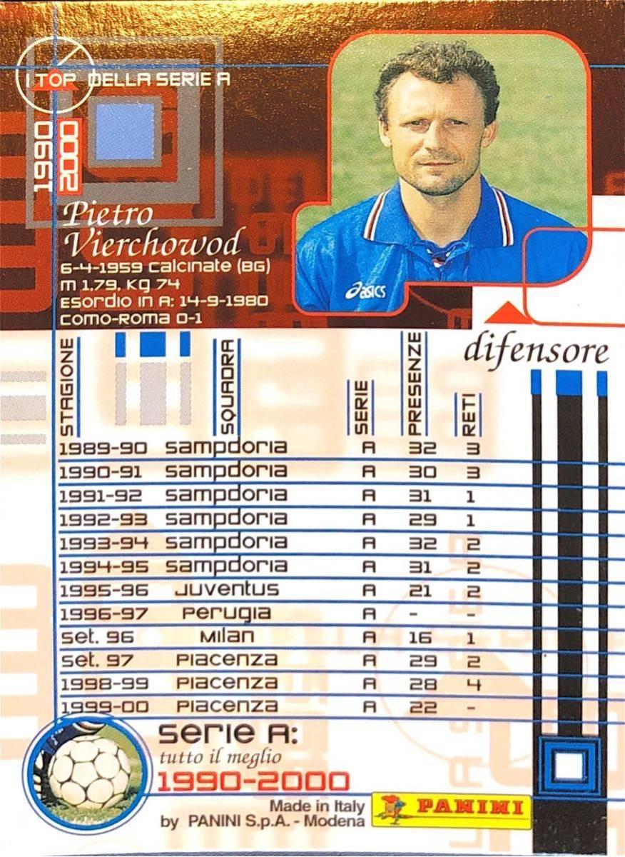 ピエトロ・ヴィエルコウッド!PANINI セリエA 1990-2000☆サンプドリア、ユヴェントス、ACミラン、ピアチェンツァ!レア!124_画像2