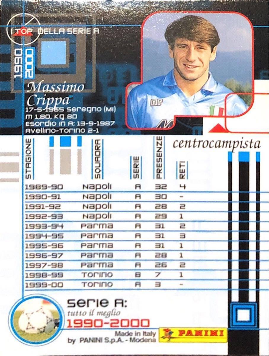 マッシモ・クリッパ!PANINI セリエA 1990-2000☆ナポリ、パルマ、トリノ!レア!33_画像2