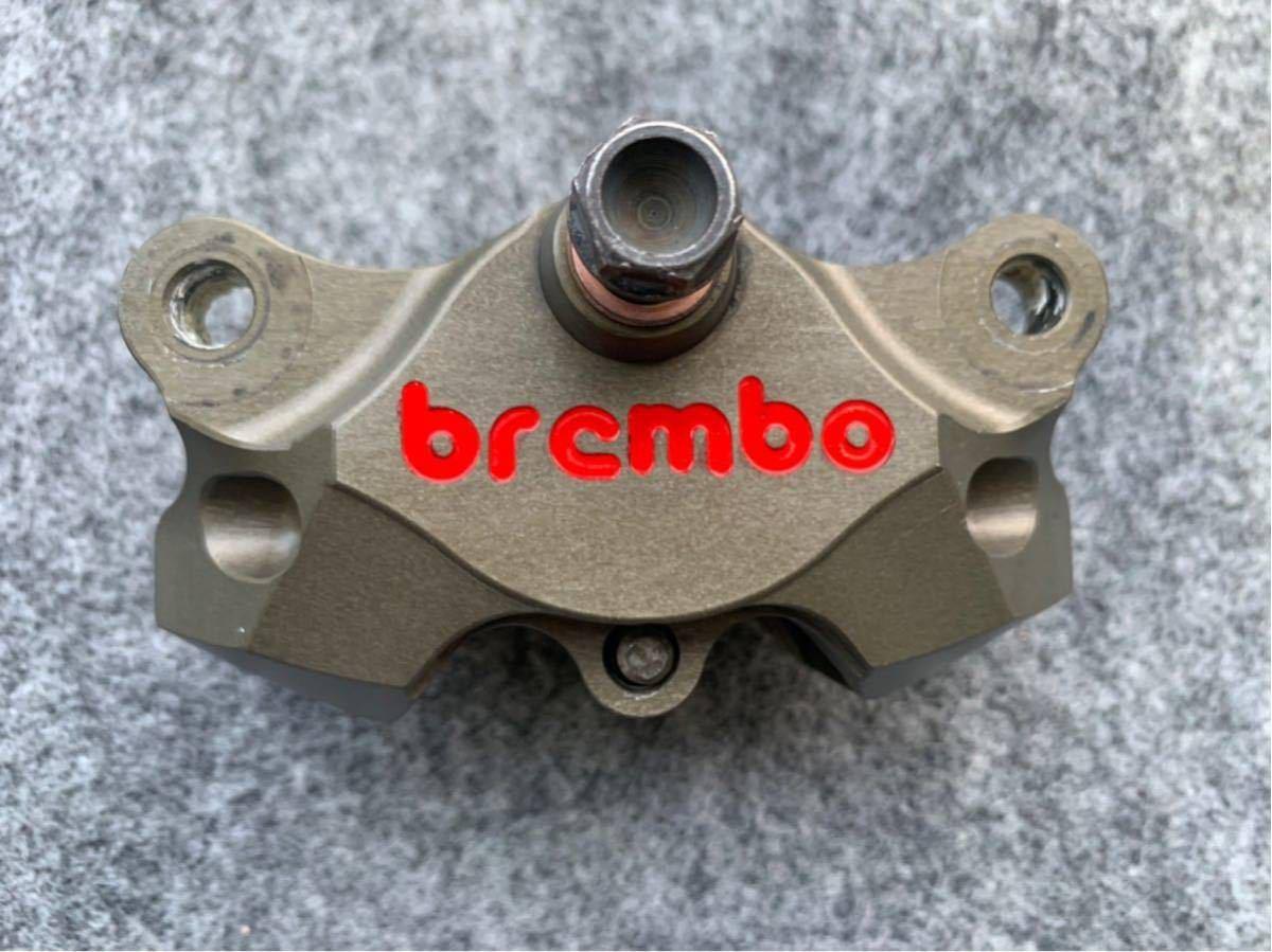 ブレンボ レーシングキャリパー ブレーキ brembo CNC 削り出し ブレーキキャリパー モンキー ゴリラ エイプ ダックス NSR カニ 2POT_画像2